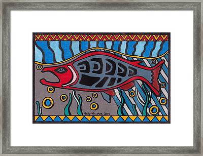 Salmon Framed Print by Molly Williams