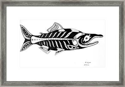Salmon Framed Print by Morgan Padgett