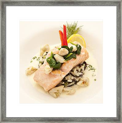 Salmon Framed Print by New  Orleans Food