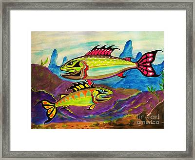 Salmon Of Colour Framed Print