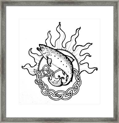 Salmon Of Knowledge Framed Print by Tomas OMaoldomhnaigh