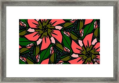 Framed Print featuring the digital art Salmon-pink by Elizabeth McTaggart