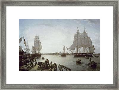 Salmon, Robert 1775-1845. Boston Framed Print by Everett