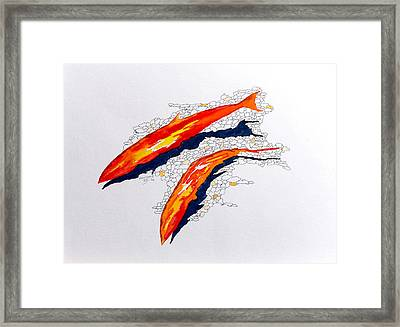 Framed Print featuring the painting Salmon Run by Richard Faulkner