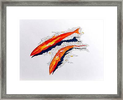 Salmon Run Framed Print