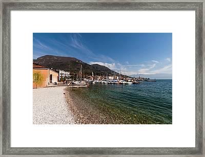 Salo, Lago Di Garda, Lombardia, Italy Framed Print by Sergio Pitamitz