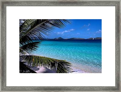 Saloman Beach - St. John Framed Print by Stephen  Vecchiotti