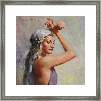 Salome Framed Print by Anna Rose Bain