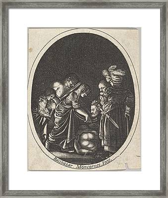 Salome Receiving The Head Of John Framed Print