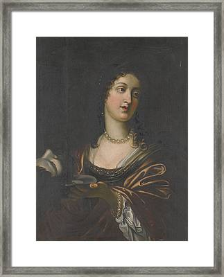 Salome With The Head Of St John The Baptist Framed Print by Celestial Images