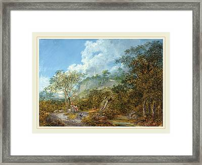 Salomon Gessner Swiss, 1730-1788, Arcadian Landscape Framed Print by Litz Collection