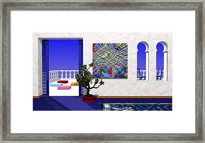 Salon Bleu Framed Print by Andreas Thust