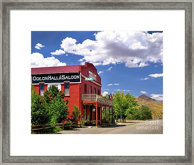 Saloon - Dayton - Nevada Framed Print