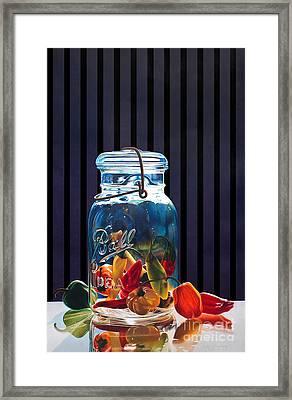 Salsa Framed Print by Arlene Steinberg