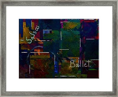 Framed Print featuring the painting Salsa Ballet by Lisa Kaiser