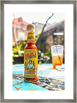 Salsa Caliente Framed Print