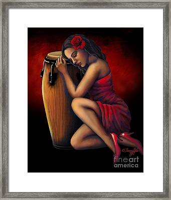 Salsa Heartbeat Framed Print by Tammy Yee