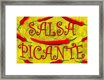 Framed Print featuring the photograph Salsa Picante by Selke Boris