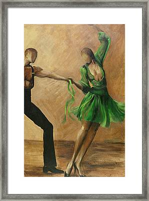 Framed Print featuring the painting Salsa by Sheri  Chakamian