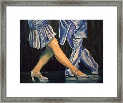 Salsa Stepping Framed Print