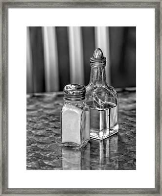 Salt And Oil Framed Print by Robert Ullmann