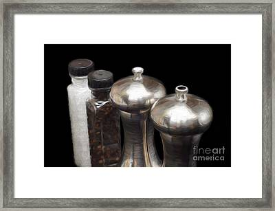 Salt And Pepper Mills Painting  Framed Print by Andee Design