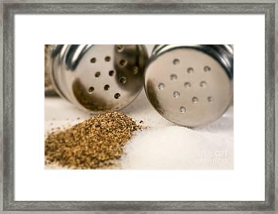 Salt And Pepper Shaker Spilled Framed Print by Iris Richardson