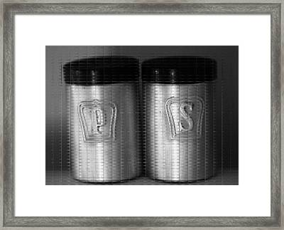 Salt And Pepper Shakers Framed Print by Dan Sproul