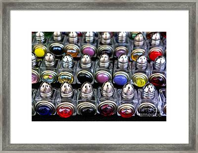 Framed Print featuring the photograph Salt And Pepper Soldiers by John S
