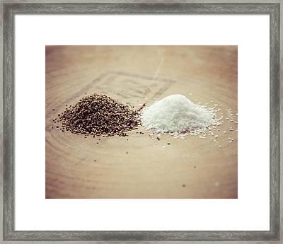 Salt And Pepper Framed Print by Takeshi Okada