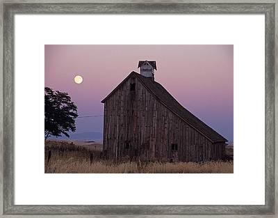 Salt Barn Mooned Framed Print