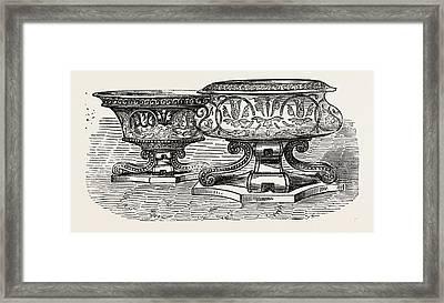 Salt-cellars Framed Print by Lias And Son, English, 19th Century