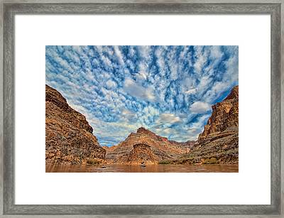 Salt Creek Clouds Framed Print