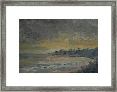 Salt Creek Sunset Framed Print