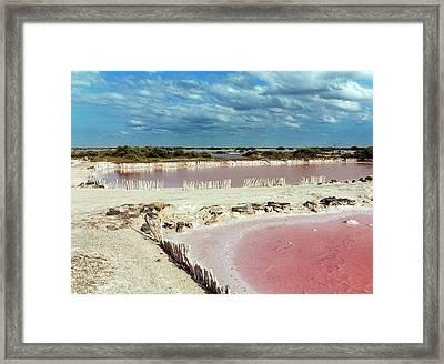 Salt Evaporation Ponds Framed Print
