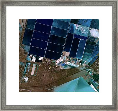 Salt Evaporation Ponds Framed Print by Kari/european Space Agency