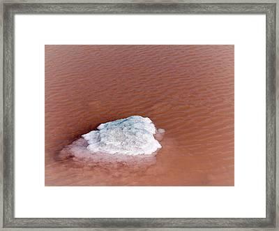 Salt In Evaporation Pond Framed Print