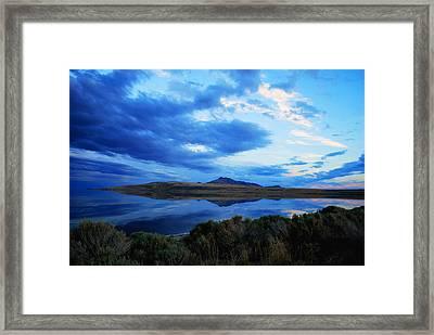 Salt Lake Antelope Island Framed Print by Matt Harang