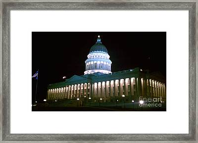 Framed Print featuring the photograph Salt Lake Capitol Building by Chris Tarpening