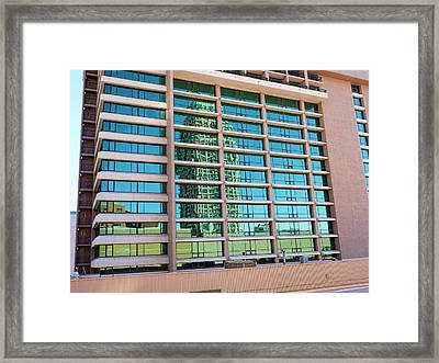 Framed Print featuring the photograph Salt Lake City Architecture Reflection by Ely Arsha