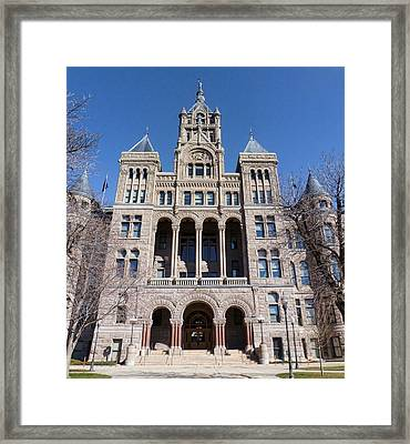 Framed Print featuring the photograph Salt Lake City - City Hall - 2 by Ely Arsha