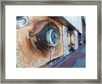Framed Print featuring the photograph Salt Lake City - Mural 1 by Ely Arsha
