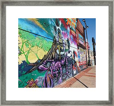 Framed Print featuring the photograph Salt Lake City - Mural 3 by Ely Arsha
