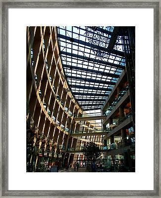 Salt Lake City Public Library Framed Print by Rona Black