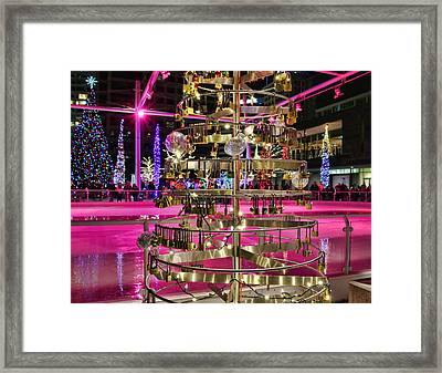 Framed Print featuring the photograph Salt Lake City - Skating Rink - 1 by Ely Arsha