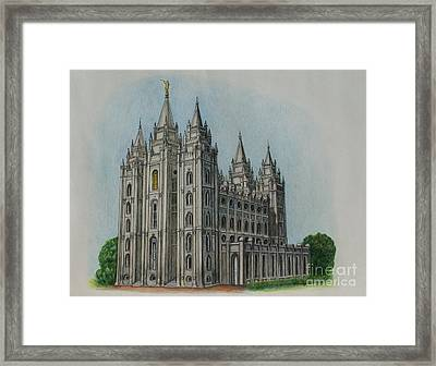 Salt Lake City Temple I Framed Print