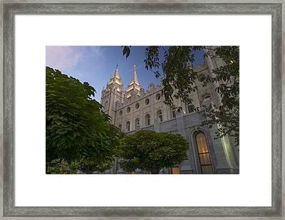 Salt Lake City Temple Framed Print by Dustin  LeFevre