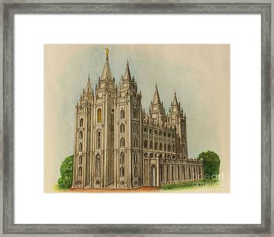 Salt Lake City Temple II Framed Print