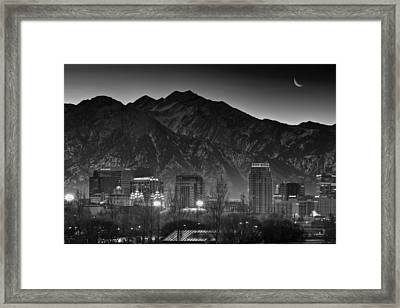 Salt Lake City Utah Skyline Framed Print