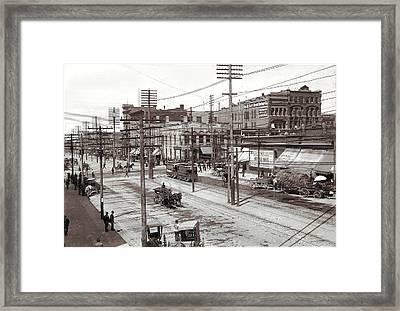 Salt Lake City Utah Framed Print by Unknown